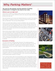 Why Parking Matters - 2015 White Paper