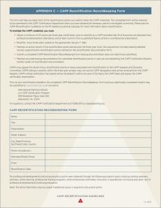 CAPP_Recertification_Recordkeeping_Form