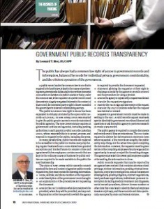 TPP-2012-03-Government Public Records Transparency