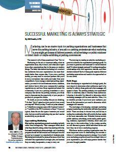 TPP-2013-01-Successful Marketing Is Always Strategic
