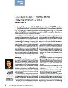 TPP-2014-01-Customer Service Enhancement from an Unusual Source
