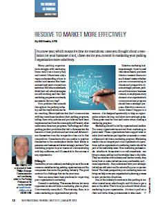 TPP-2014-01-Resolve To Market More Effectively