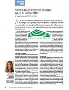 TPP-2014-08-Green Garage Assessor Training Value to Consultants