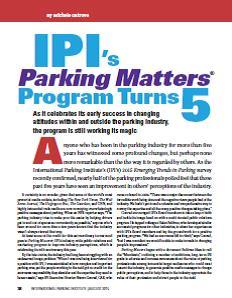 TPP-2015-08-IPI's Parking Matters Program Turns 5