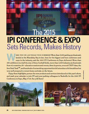 the 2015 ipi conference expo sets records makes history parking