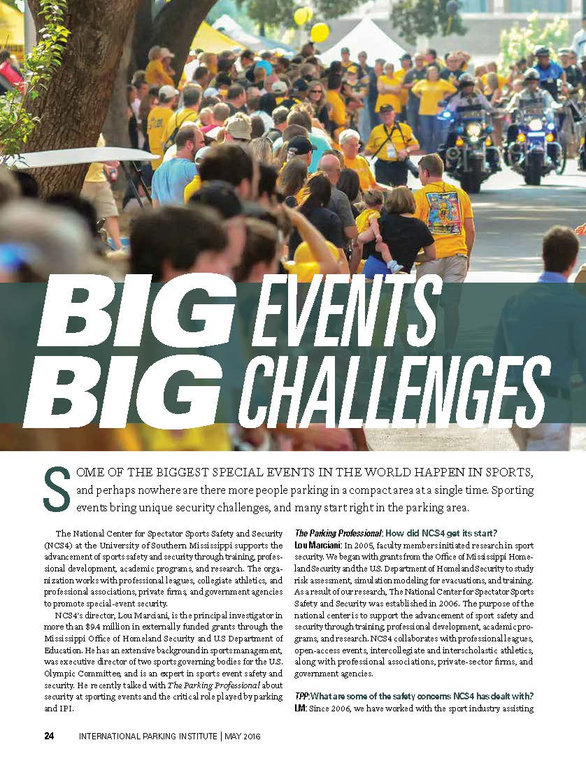 Big Events Big Challenges Parking Certification For Sporting Events