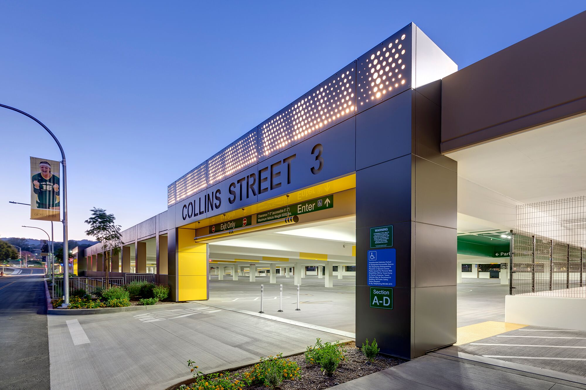 2018 AOE Winner: Cal Poly Pomona Parking Structure 2, Cal